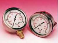 100mm Dia. Pressure Gauges - Bottom Connection