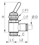 3/2 Manual Switch-Operated Valve, Supply, Male BSPP and Metric Thread