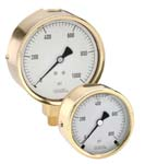 Brass Case Liquid Filled Pressure Gauges - 300 Series - Noshok