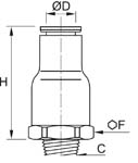 In-Line Non-Return Valve, Supply, Male BSPT Thread