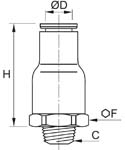 In-Line Non-Return Valve, Exhaust, Male BSPT Thread