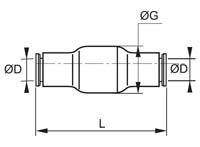 In-Line Equal Non-Return Valve