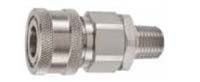 H Series Couplers (316 Stainless Steel) - Male Thread