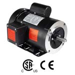 WORLDWIDE Fractional HP Motors-General Purpose-TEFC Enclosure-C-Face-Removable Base-Single-Phase-115-208/230 Volt