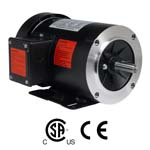 WORLDWIDE Fractional HP Motors-General Purpose-TEFC Enclosure-C-Face-Removable Base-Three-Phase-208-230/460 Volt