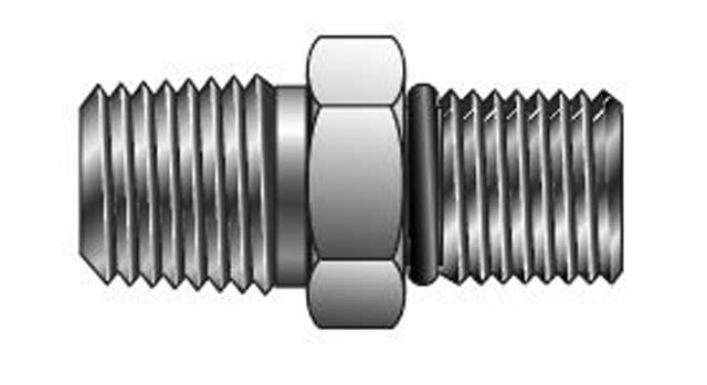 Fhoa ss npt thread to sae straight adapter