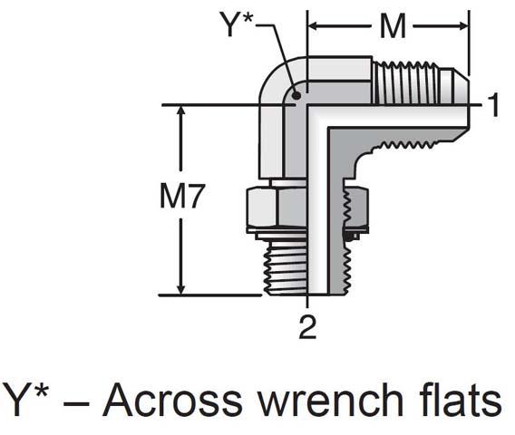 Parker 4M10C8OMXS Male Elbow 1//4 JIC X M10X1 Metric Adjustable Steel