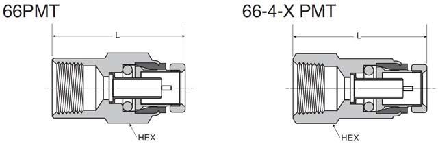 66PMT-6-4 - Female Connector 66PMT