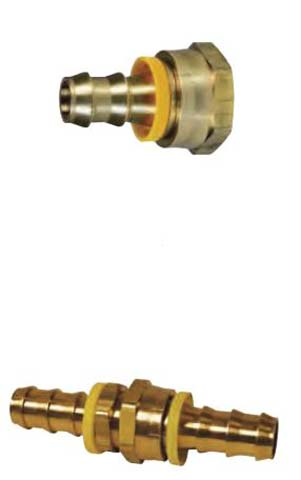 572 1012 Push On Hose Fittings With Garden Hose Threads   Push On