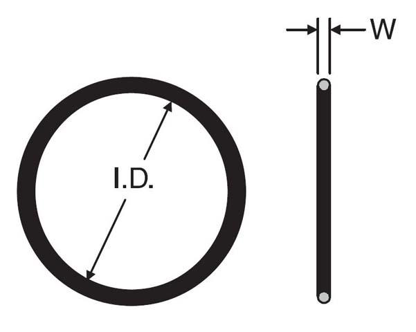 3-910 NBR - SAE O-Ring - SAE Straight Thread Port O-Ring | Hydradyne LLC
