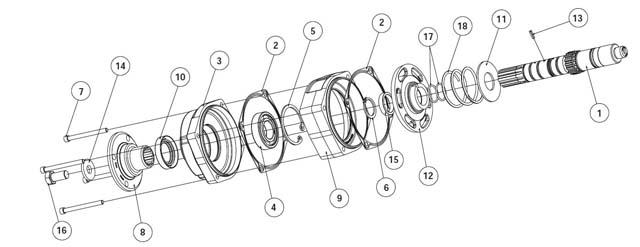 Parker Chelsea 280 Series Parts List | Hydradyne LLC