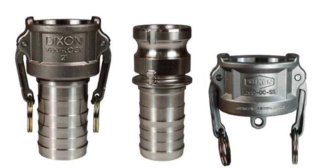 L dc ss vent lock cam and groove couplings b safety