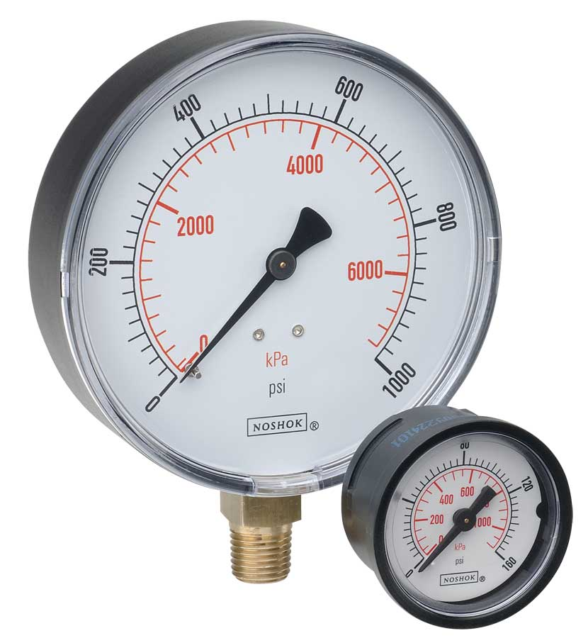 Dial Indicating Pressure Gauge - 100 Series - Noshok